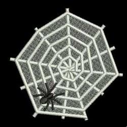 FSL Spider on Web embroidery design