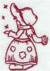 Redwork Winter Bonnet embroidery design