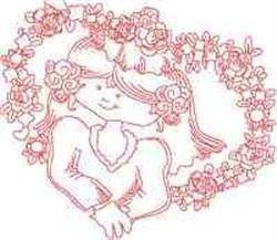 Heart Framed Bride embroidery design