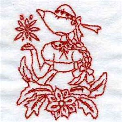 Christmas Bonnets Girl embroidery design