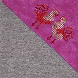 Cross Stitch Folkart Chickens embroidery design