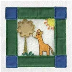 Zoo Block Giraffe embroidery design