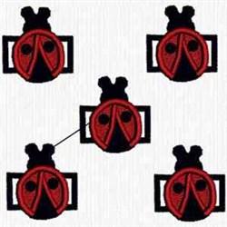 Ladybug Beads embroidery design