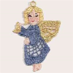 FSL Gold Wing Angel embroidery design