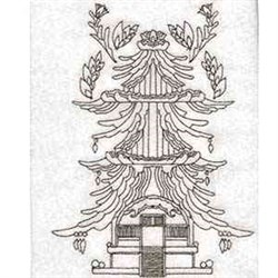 Blackwork Laoh embroidery design