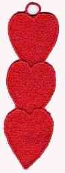 FSL Blank Hearts embroidery design