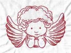 Valentine Angel embroidery design