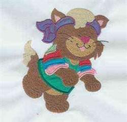 Cat Attitude Exercise embroidery design