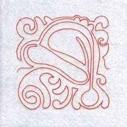 Redwork Christmas Block embroidery design