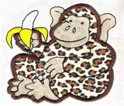 Applique Monkey embroidery design