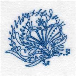 Bluework Easter Lily embroidery design