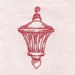 Redwork Lantern embroidery design