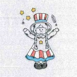 July 4 Country Girl embroidery design