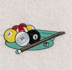 Playing Pool embroidery design