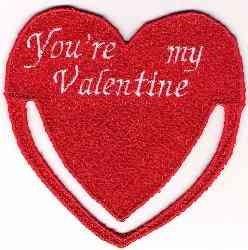 FSL My Valentine Bookmark embroidery design