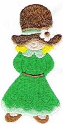 Girl With Bonnet embroidery design