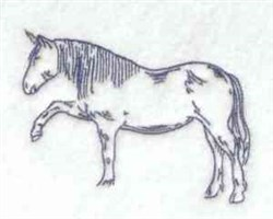 Bluework Horse embroidery design