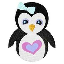 Girl Penguin embroidery design