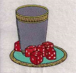 Lets Play Dice embroidery design