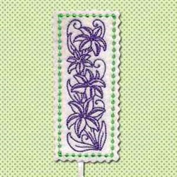 Lilies Bookmark embroidery design