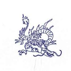 Bluework Dragon embroidery design