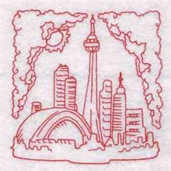 Redwork Canada Block embroidery design