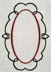 Swirl Frame embroidery design