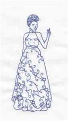 Bluework Woman embroidery design