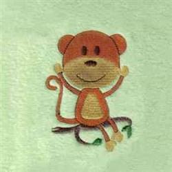 Jungle Monkey embroidery design
