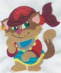 Cat Attitude embroidery design
