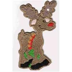 FSL Reindeer Ornament embroidery design