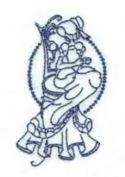 Line Art Tea Time embroidery design