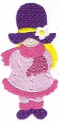 Winter Bonnet Girl embroidery design