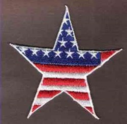 FSL Patriotic Star embroidery design