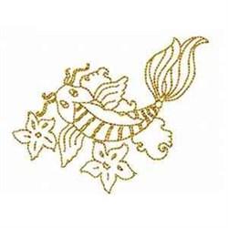 Redwork Koi Fish embroidery design