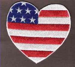 FSL Patriotic Heart embroidery design