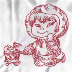 Redwork Eskimo embroidery design