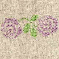 Rose Cross Stitch embroidery design