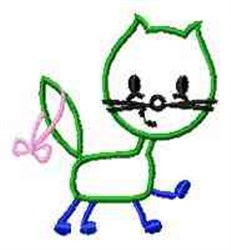 Line Art Kitten embroidery design