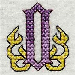 Heavy Metal Alphabet O embroidery design