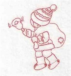 Redwork Christmas Child embroidery design