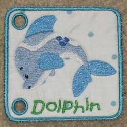 Dolphin Sea Book embroidery design