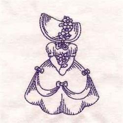 Bluework Vintage Lady embroidery design