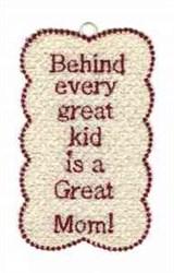 FSL Mom Bookmark embroidery design