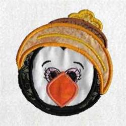 Winter Penguin Head embroidery design
