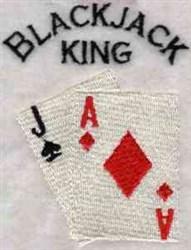 Blackjack King embroidery design