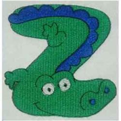 Animal Alphabet Letter Z embroidery design