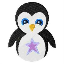 Frosty Penguin embroidery design