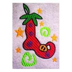 Slipper Ornament embroidery design