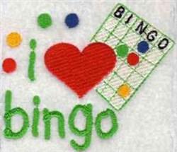 I Love Bingo embroidery design